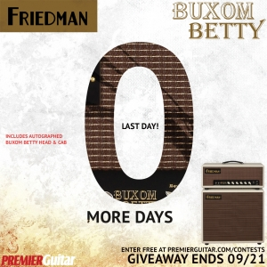 Friedman Buxom Betty Giveaway ends today!